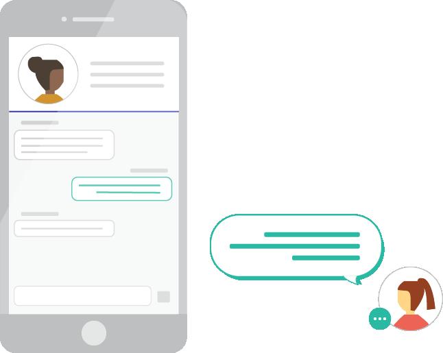 Loop mobile app - inbox illustration